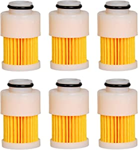 HIFROM Replacement Outboard Fuel Filter Replacement for 4 Stroke Yamaha Mercury 68V-24563-00-00 881540 18-7979 75-115 HP Engines - 6pcs