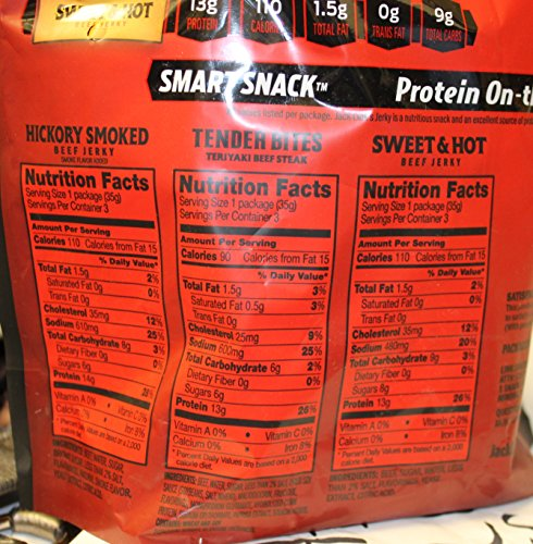 Jack Link's Snack Packs (9pack) Hickory Smoked, Teriyaki Steak, Sweet & Hot Jerky