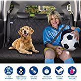 acelitor Acrabros Deluxe Dog Seat Covers For Cars,Dog Car Seat Hammock Convertible,Universal Fit,Extra Side Flaps,Exclusive Nonslip,Waterproof Padded Quilted,Black
