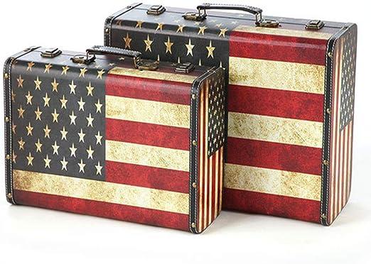 Retro maleta de viaje Antiguo almacenaje de la ropa caja cofre del ...