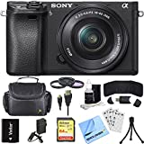 Sony Alpha a6300 ILCE-6300 4K Mirrorless Camera 16-50mm Lens Bundle includes a6300 Camera, 16-50mm, Filter Kit, 64GB SD Card, Beach Camera Cleaning Cloth and More!