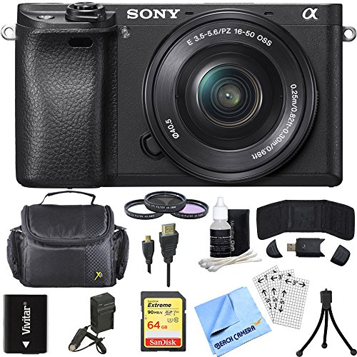 Sony ILCE-6300 a6300 4K Mirrorless Camera with 16-50mm Power