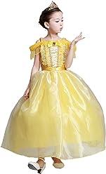 e0dfd6715a04f UR Fashion ディズニードレス ベル 美女と野獣 子供ドレス 女の子 プリンセス コスチューム キッズ お姫様 なりきり