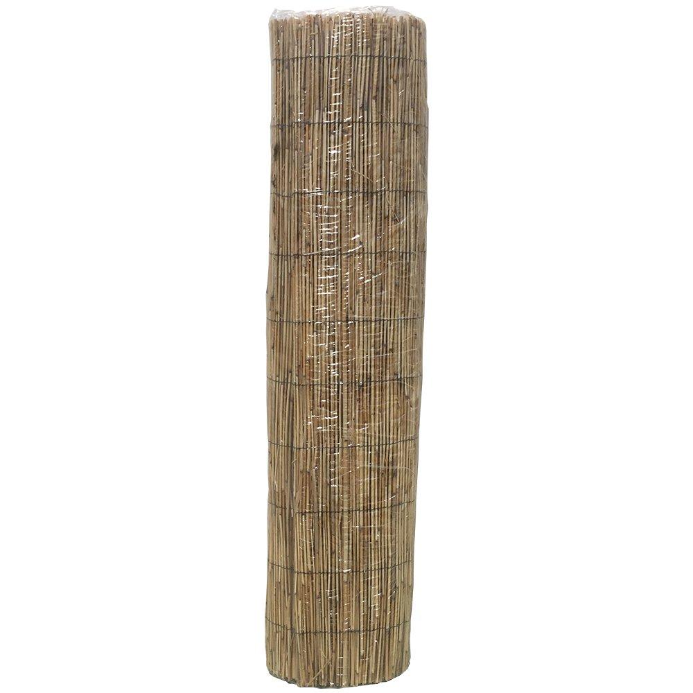 HYF Cerca de caña Natural pelada y Tejida, cañizo de bambú de caña Fina para el jardín, 1 m x 5 m, excelente Valla de ocultación de caña Fina, ...