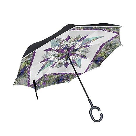 Amazon com : MALPLENA Star Gazer Quilt Pattern Floral Auto
