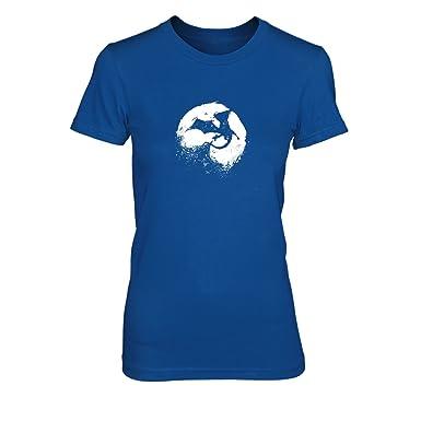 Night of Dragons - Damen T-Shirt, Größe: S, Farbe: blau