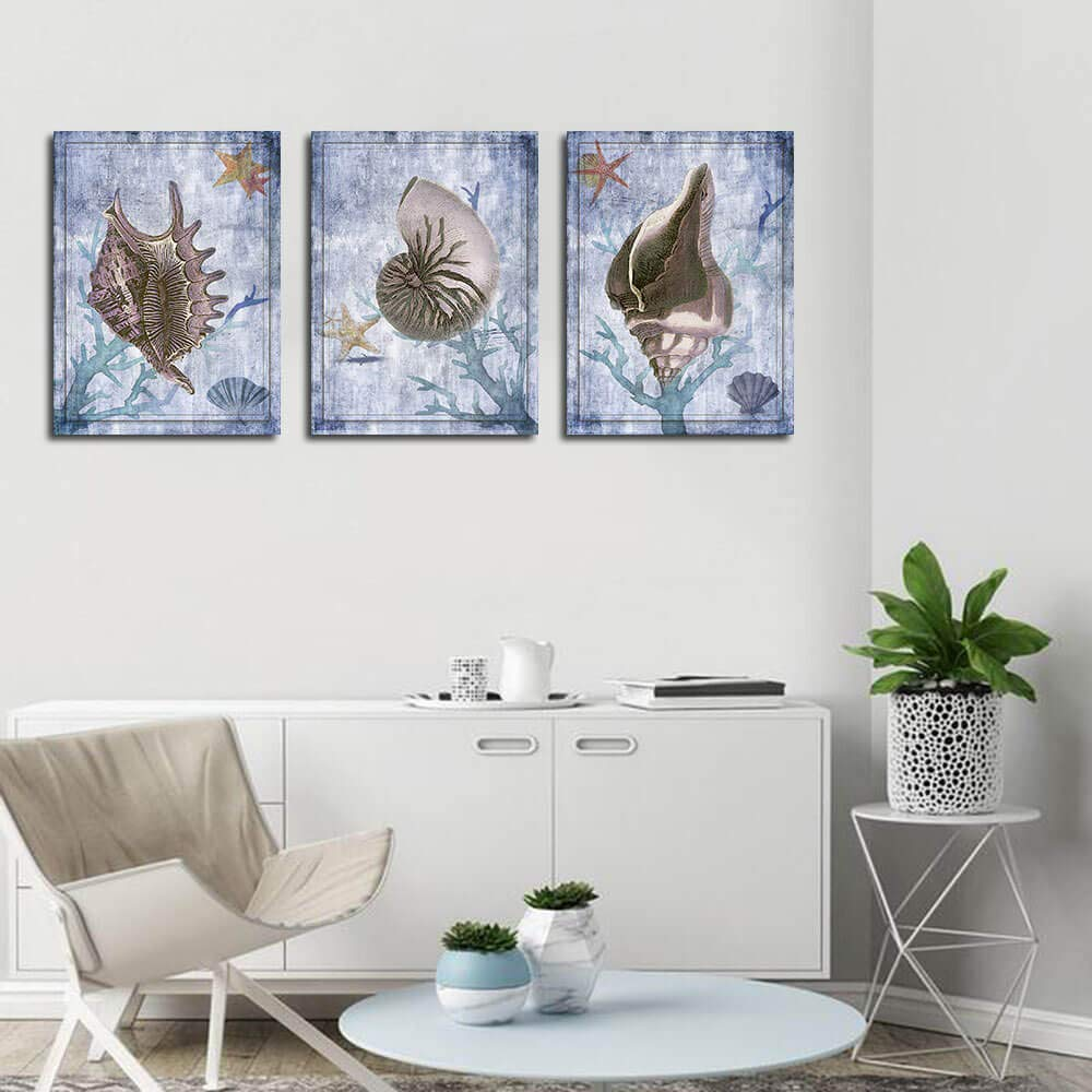 Canvas Wall Art Prints Watercolor Ball Cactus Cacti Green Plants and Flower Painting Pictures Succulent Poster Artwork 12x16 3 Panels//Set for Bedroom Bathroom Spa Salon Kitchen Home Office Decor Arjun