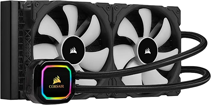 Corsair iCUE H115i RGB Pro XT, 280mm Radiator, Dual 140mm PWM Fans, Software Control, Liquid CPU Cooler