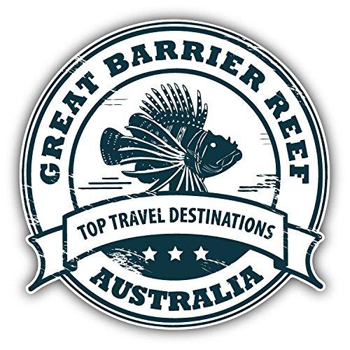 Great Barrier Reef Australia Grunge Stamp Vinyl Decal Bumper Sticker 5'' X 5''