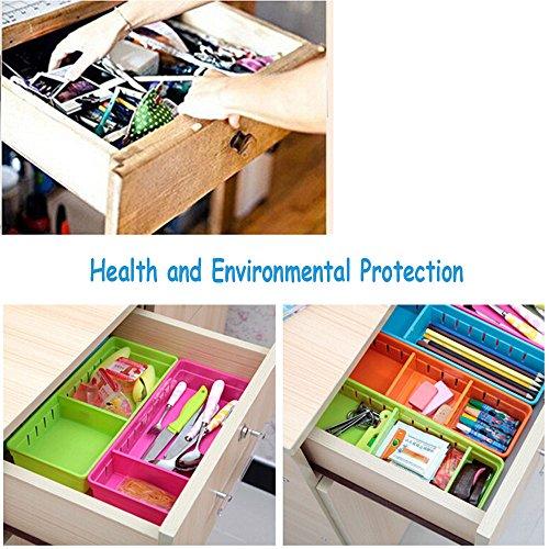 Focussexy Adjustable Plastic Drawer Organizer Flatware Organizer Photo #5
