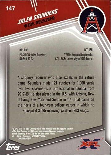 2020 Topps XFL #147 Jalen Saunders Houston Roughnecks Football Trading Card