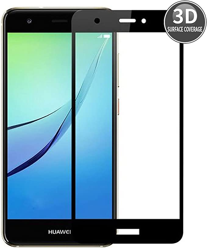 E-Hamii Huawei Nova Plus (Negro) Película Protectora 3D Curvada ...