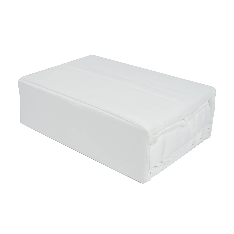 Sherry Kline Mohan Cotton 4-Piece 300TC Queen Sheet Set White