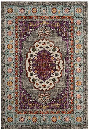- Safavieh MNC246L-810 Monaco Collection Vintage Area Rug, 8' x 10', Violet/Light Blue