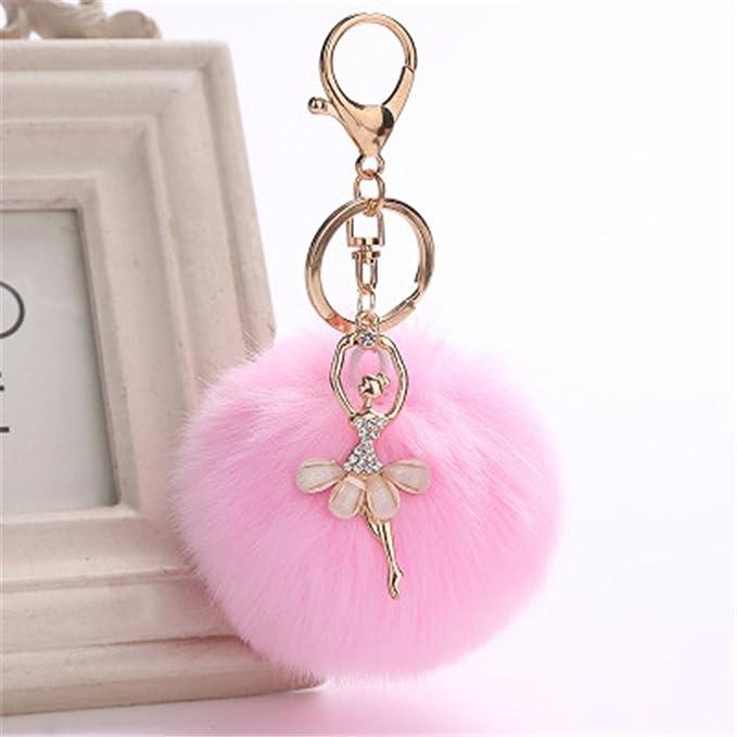 Amazon.com : Gotian 8cm Fluffy Keychain Cute Dancing Angel ...