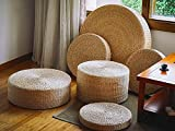 Rustic floor cushions/straw floor pouf/gift for moms/Pouf ottoman/Wholesales bulk/Yoga/meditation cushion/wedding gift