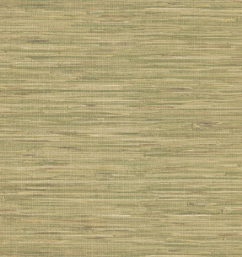 Brewster 414-44140 Faraji Sage Faux Grasscloth Wallpaper ()