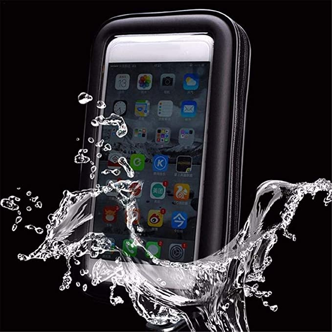 Soporte universal para motocicletas a prueba de agua Soporte para motocicleta Soporte para tel/éfono Vista posterior Montaje en espejo para iPhone para tel/éfono Samsung S4 S5 S6 S7 Nota 2 3 4 5 LG HTC