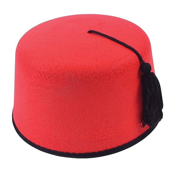 salida online comparar el precio 60% barato Turco marroquí Fez Sombrero de Fieltro: Amazon.com.mx: Ropa ...