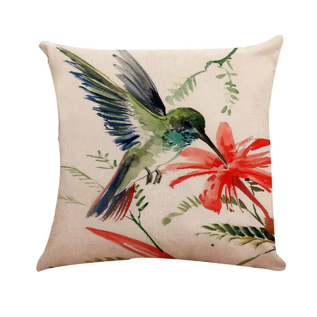 LEEDY Little Bird Cojín Funda de Almohada Funda de Almohada ...