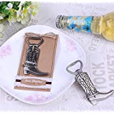 """Just Hitched"" Cowboy Boot Bottle Opener For Wedding Party Favor Gift, Set of 48"