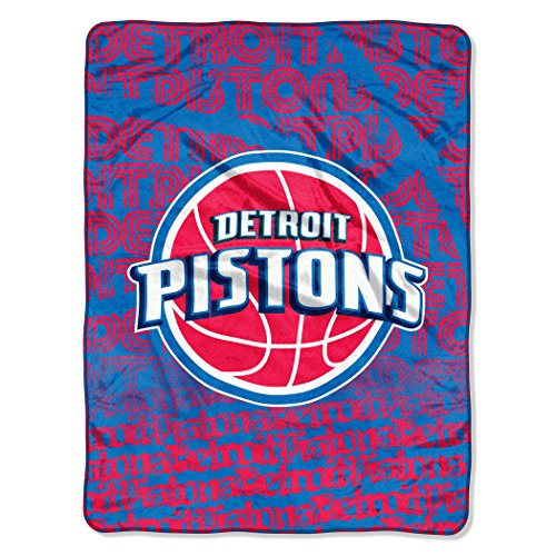 (The Northwest Company Officially Licensed NBA Detroit Pistons Redux Micro Raschel Throw Blanket, 46