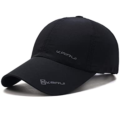 Oulm Stylish Baseball Adjustable Black Cap for Men   Boys - (CP-1) ed3d13a518f