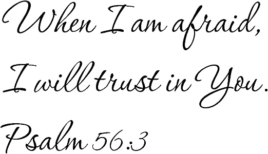 Amazon.com: Tapestry Of Truth - Psalm 56:3 - TOT9241 - Wall and ...