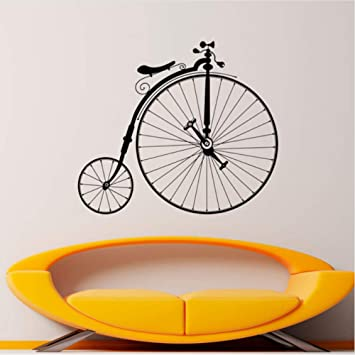 Mrhxly Bicicleta Antigua Calcomanía De Hipster Etiqueta De Vinilo De Pared Sport Bike Home Dormitorio Decoración