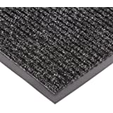 "NoTrax 109 Brush Step Entrance Mat, for Lobbies and Indoor Entranceways, 3' Width x 4' Length x 3/8"" Thickness, Charcoal"