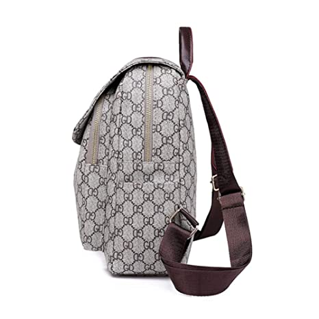 Amazon.com : YKXIAOYU Backpack Female Wild Ladies Casual Backpack Pu Soft Leather Retro Print Backpack : Garden & Outdoor