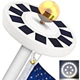 TOTOBAY 30 LED Solar Power Flag Pole Lights, {Upgraded Version} Weatherproof Flagpole Downlight for Most 15 to 25 Ft Auto On/Off Night Lighting- Eco-friendly and Energy-saving