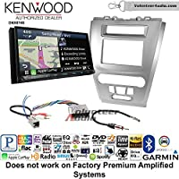 Volunteer Audio Kenwood DNX874S Double Din Radio Install Kit with GPS Navigation Apple CarPlay Android Auto Fits 2010-2012 Fusion (Silver) (Not for factory amplified systems)