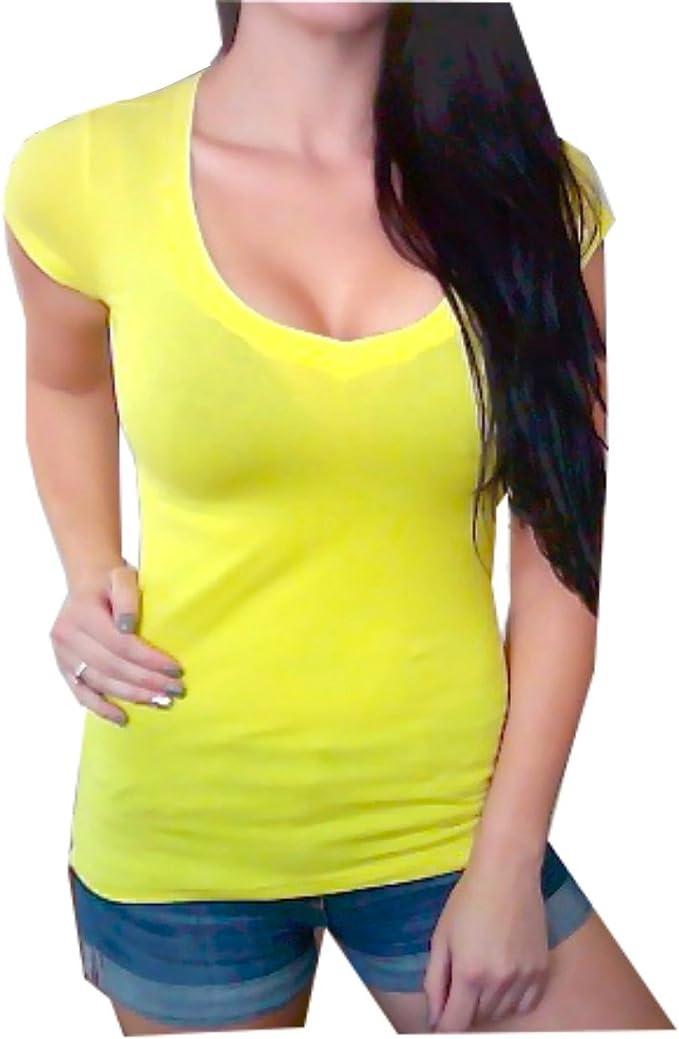 womens yellow t shirt