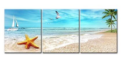 amazon com canvas print wall art painting for home decor seascape