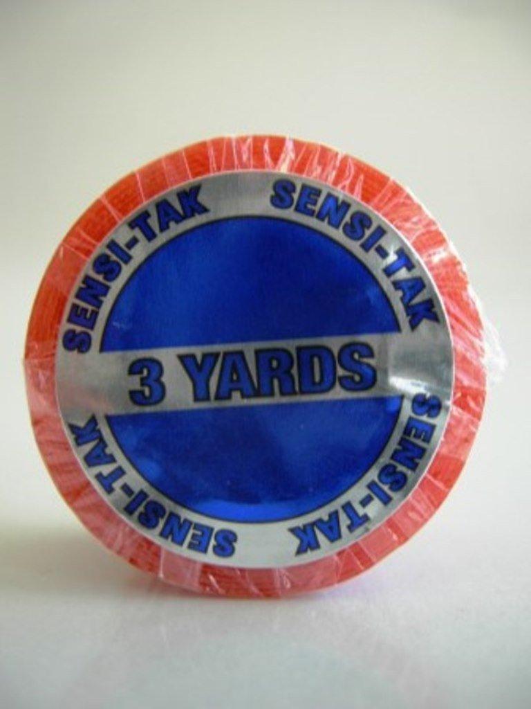 "1-2 Week Hold 3/4"" X 3 Yard Red Liner Sensitak Adhesive Tape Roll By Sobe Organics"