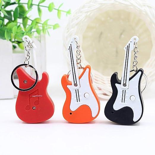 HVdsyf Lindo Llavero De Sonido LED, Mini Guitarra Colgante ...