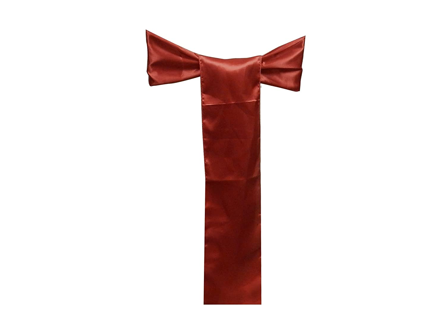 Elina Home Satin 6 x 108 Chair Bow Sash Wedding Banquet Kitchen Decoration Pack of 50,Red
