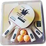 4-Pack Kevenz Classic Table Tennis Paddles Set ,Family Ping Pong Racket