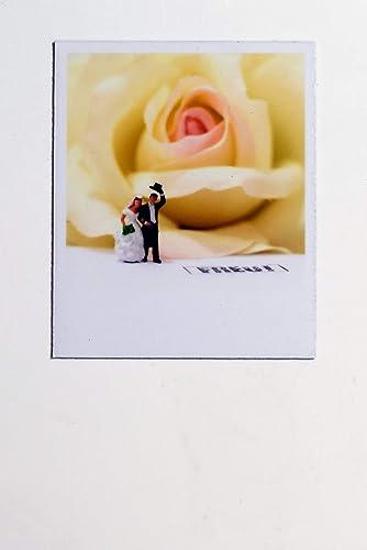 Schoner Magnet Fur Kuhlschrank Einladung Hochzeit Paar Vor Rose