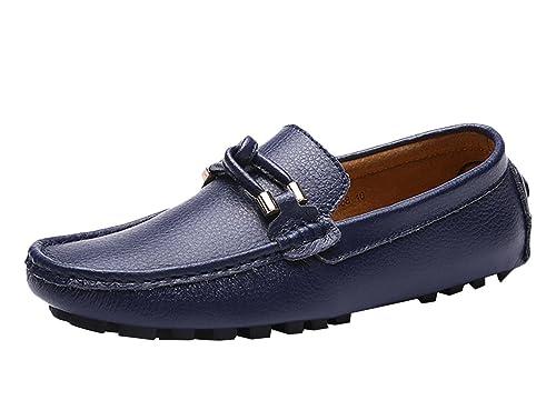 SK Studio Hombre Mocasines de Cuero Zapatos del Barco Respirable Calzado Zapatos de Conducción Mocasine: Amazon.es: Zapatos y complementos