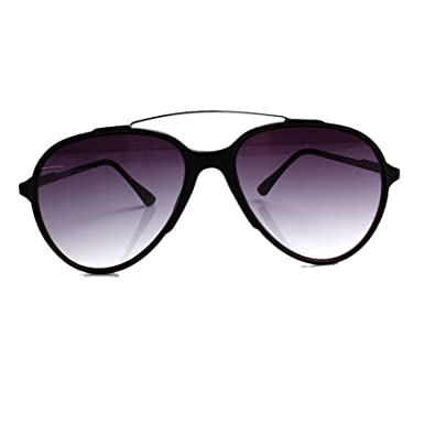 Accessoryo - Lunettes de soleil d'aviateur noir avec détails en or et verres noirs aQNQUDSr26