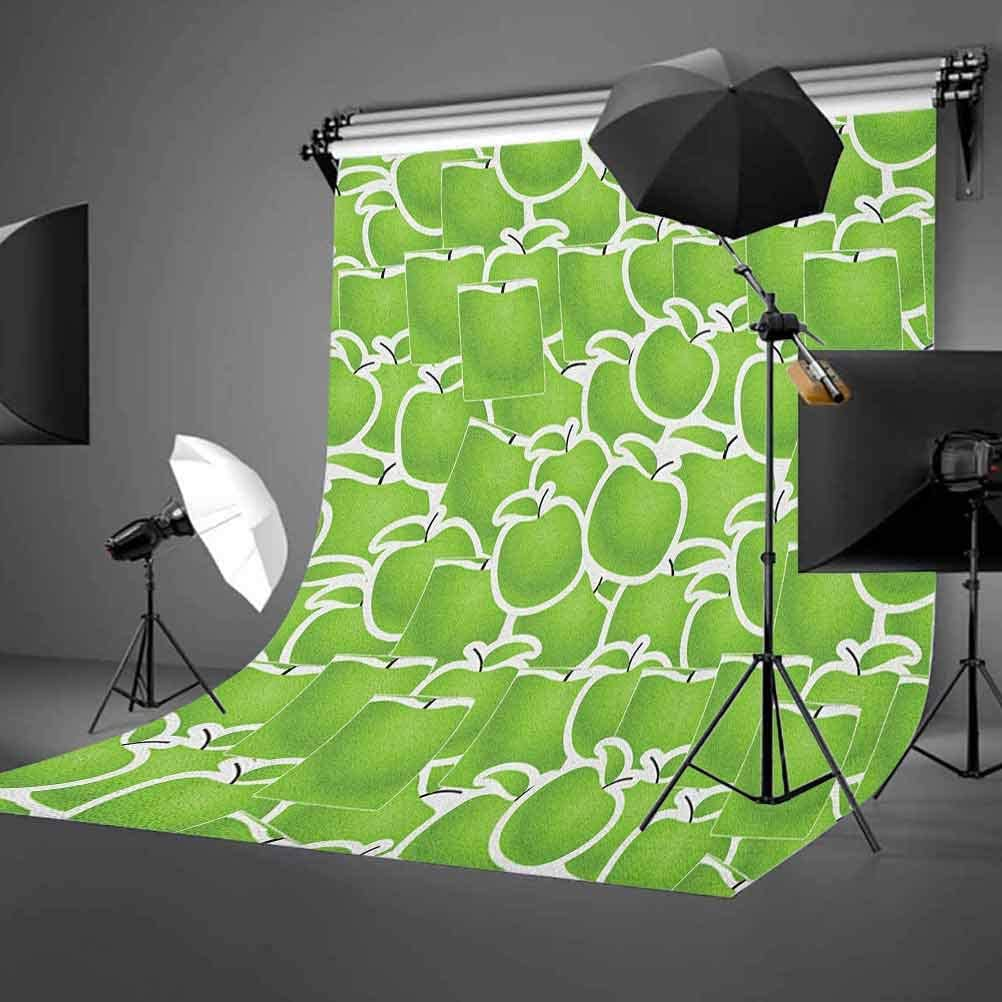 7x10 FT Vinyl Photography Background Backdrops,Doodle Style Pattern with Swirls Leaves and Petals Botanical Background for Selfie Birthday Party Pictures Photo Booth Shoot