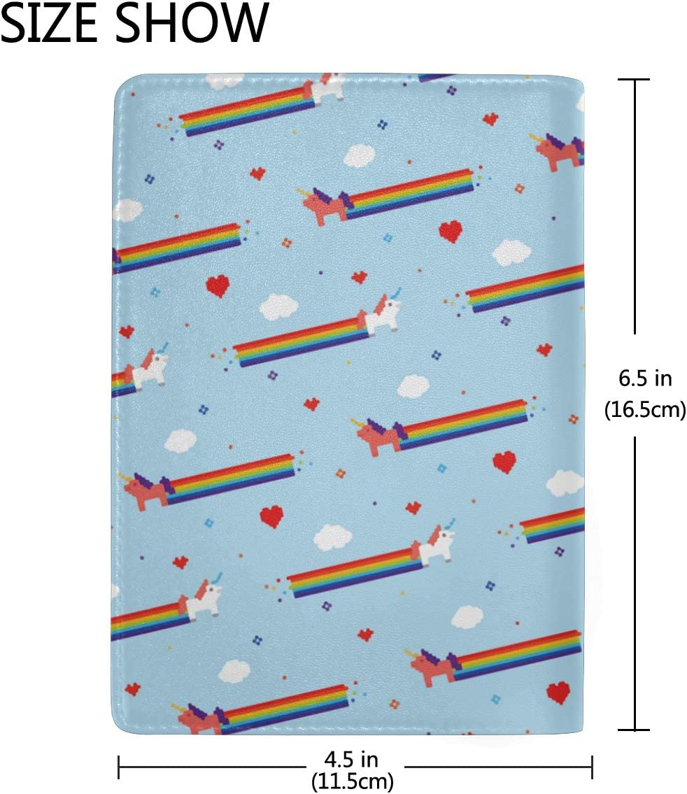A Unicorn That Can Put Rainbow Gas Leather Passport Holder Cover Case Blocking Travel Wallet