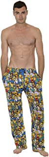 The Simpsons Multi Character Collage Adult Blue Lounge Pants