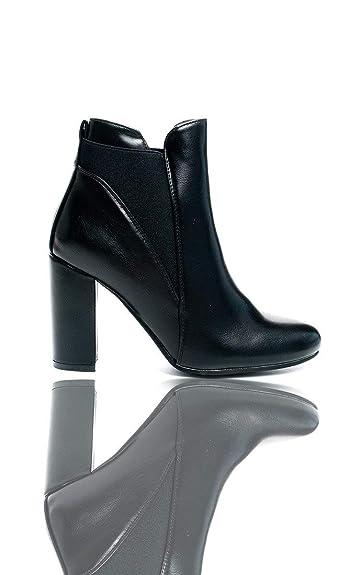 Amazoncom Ikrush Womens Melanie Heeled Ankle Boots Ankle Bootie