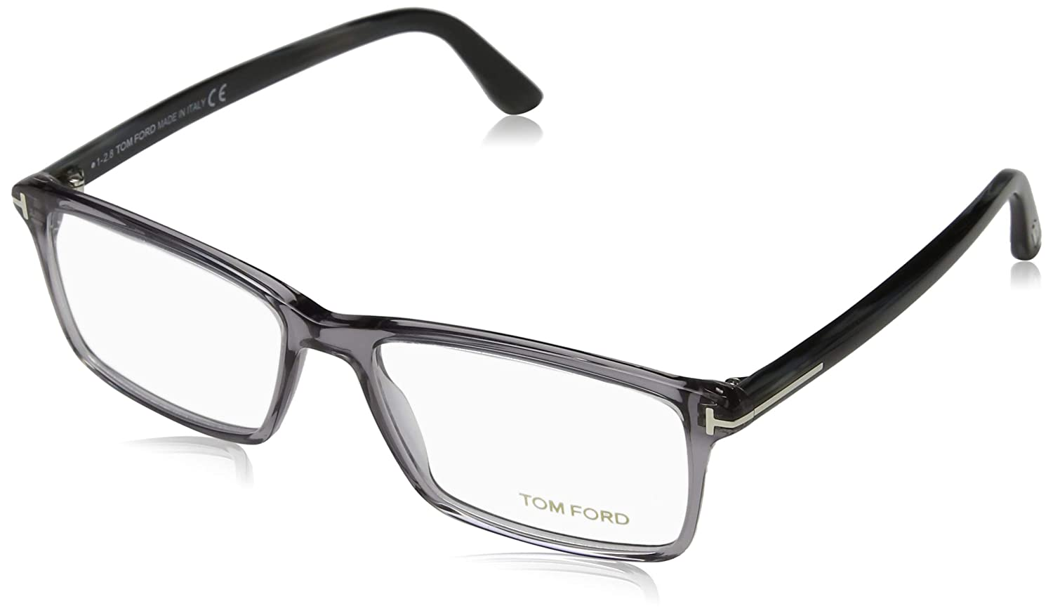 3a57a0b239a9 TOM FORD Men's TF 5408 020 Clear Gray Clear Rectangular Eyeglasses 56mm at  Amazon Men's Clothing store: