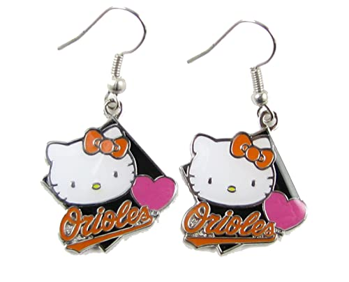 072f10cd1 Amazon.com: Baltimore Orioles Hello Kitty Diamond Dangle Earrings ...