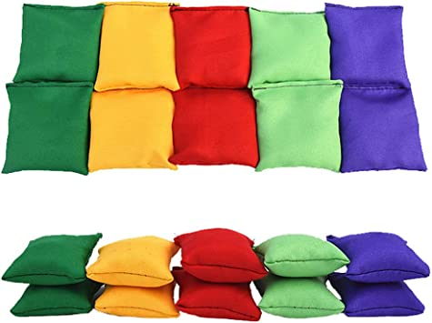TRIEtree 10Pcs Bean Bags Toy Children Juggling Balls Sandbags Toy for Kid Tossing Tournament