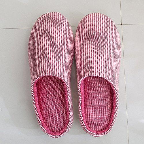 Donne 42 39 Dimensioni Coppie E L Colore Pantofole Zhirong Casa Interna Morbida Cotone Blu Pelle Uomini In Primavera Autunno Antisdrucciolevole Rosso 0xUHqCBw